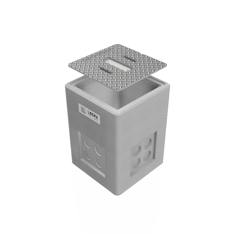 2x2x3 Concrete electrical pull box / handhole