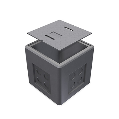 2x2x2 Precast Concrete Communication Pull Box