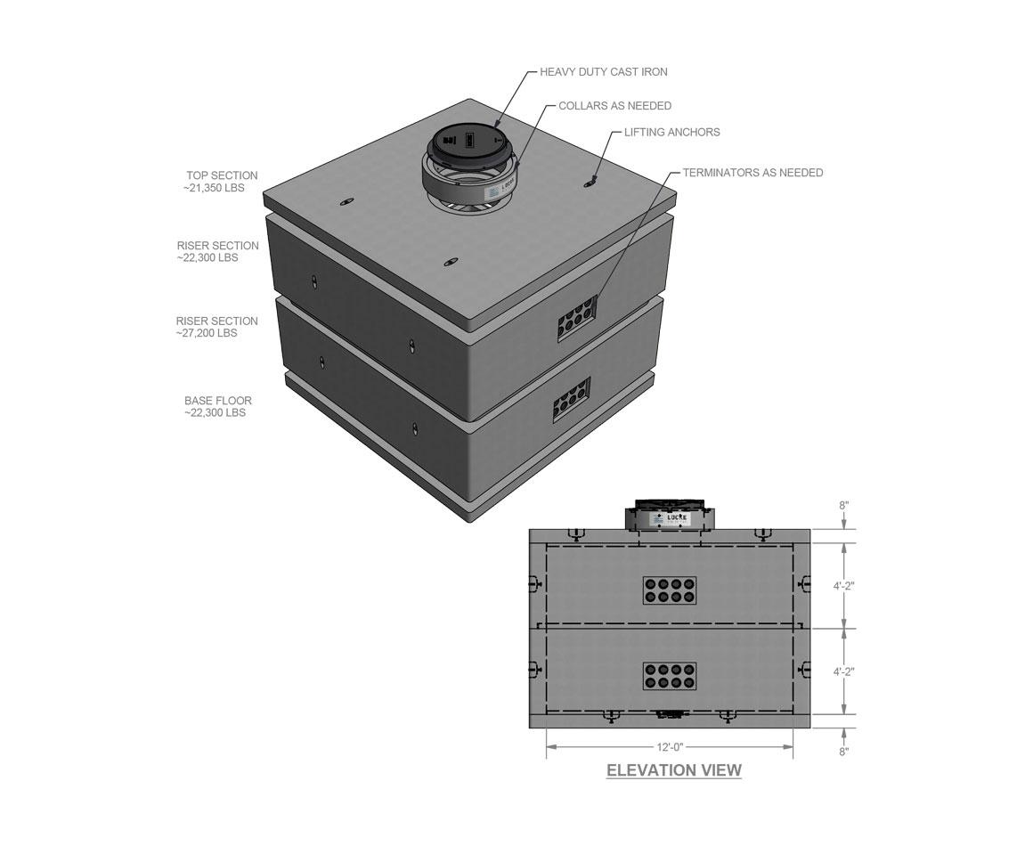 Custom Sized Electrical Manhole Locke Solutions