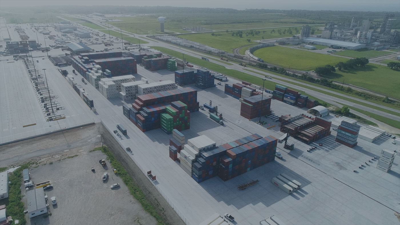 Typical Container Yard Aerial Picture